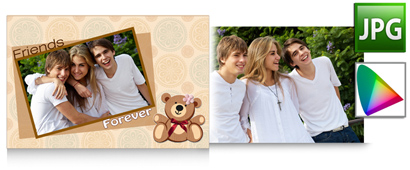 Match the print of photos with color profile support within Gift Xpress