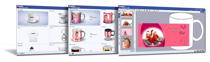 Auto gift Creation is easy & save time by selecting Gift type, size, design and photo in Gift Xpress