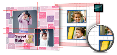Grids, Guidelines and Ruler helps you to position images or elements precisely within Gift Xpress