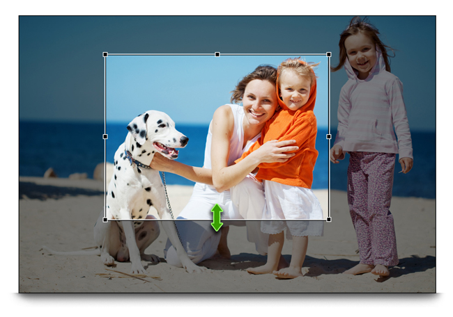 Get on board page composition like cropping & transforming with Gift Xpress