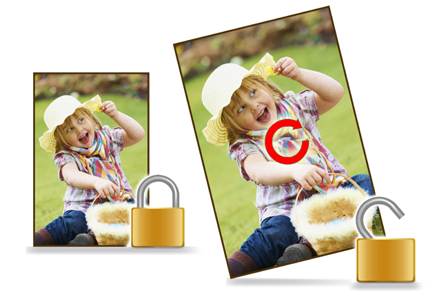 Gift Xpress has Lock & Unlock photo with objects like clipart, mask, border for precise designing