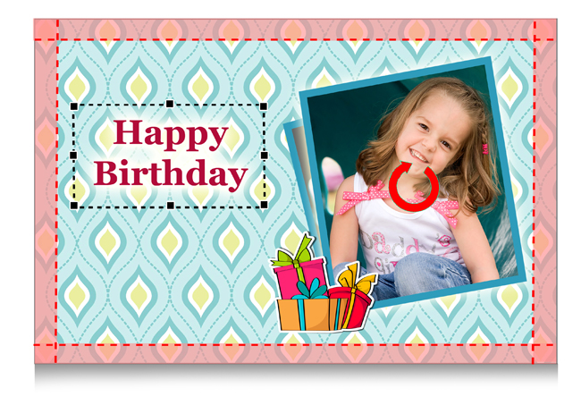 Edit cover page design by selecting backgrounds, frames, masks or effects on photos in Gift Xpress