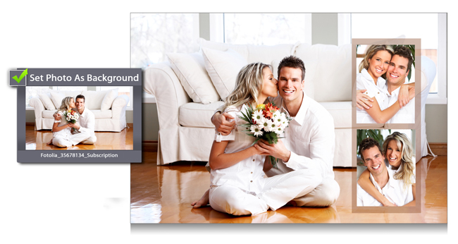 Use Photo as Background and make Personalized album with Gift Xpress