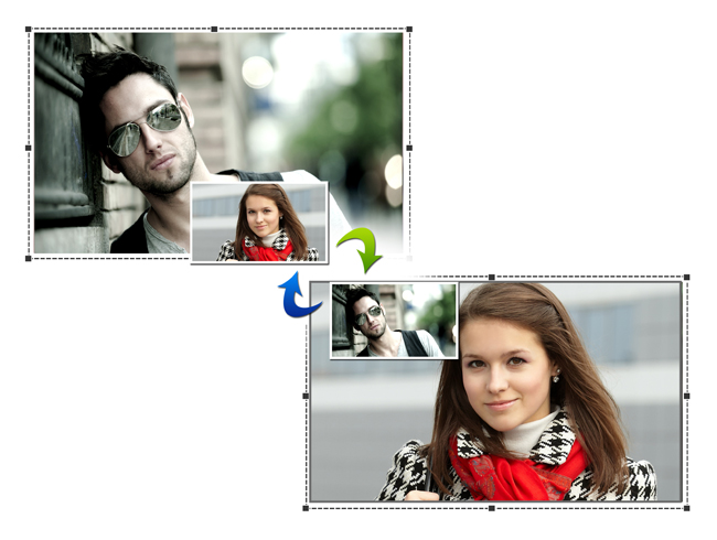 Swap Photos instantly while editing with Gift Xpress