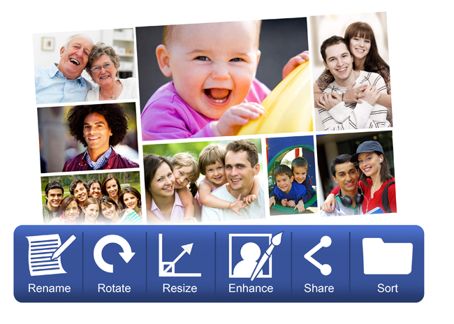 Advance Photo Manager helps in Color corrections, rename, enhance & share within Gift Xpress