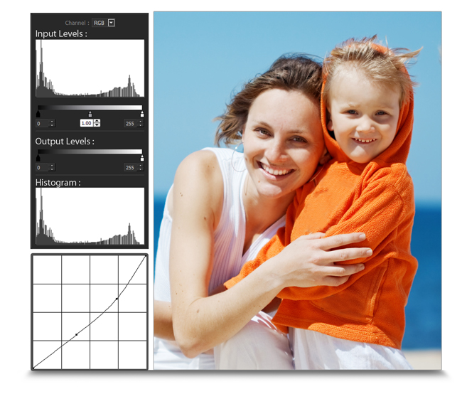 Add Curve & Level in Photos by using tools which can be used to edit photos in Gift Xpress