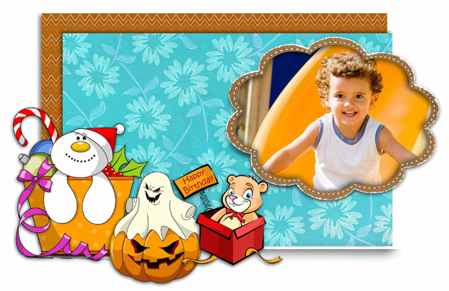 Get huge collection of Backgrounds, Borders, Mask and Cliparts within Gift Xpress