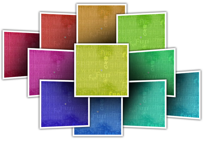 18 ready tones in Single Click for decors like background & Cliparts in Gift Xpress
