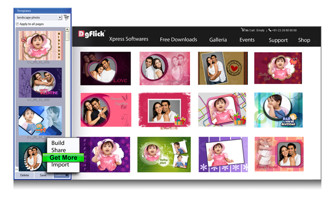Get more Templates from DgFlick within Gift Xpress